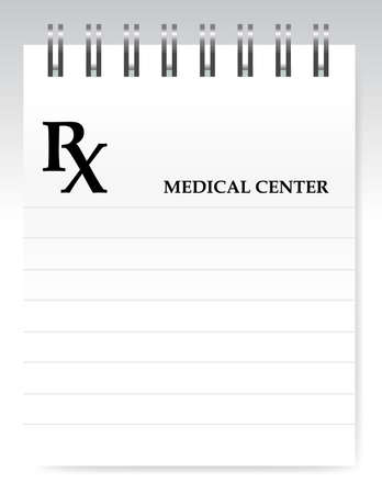 rx: Blank prescription illustration design over white