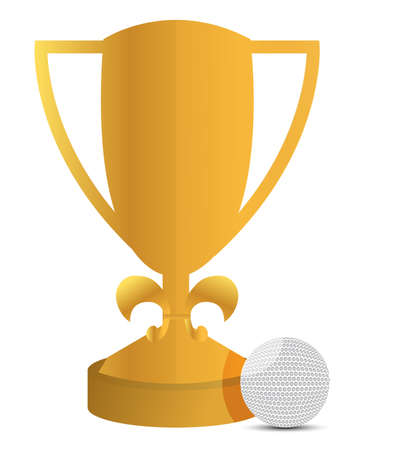 trophy and golf ball illustration design over white Stock Vector - 13785047
