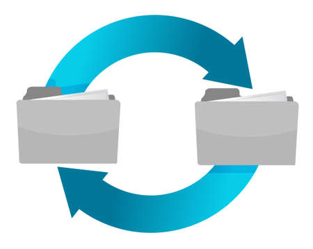 connection of folders illustration design over white Vector