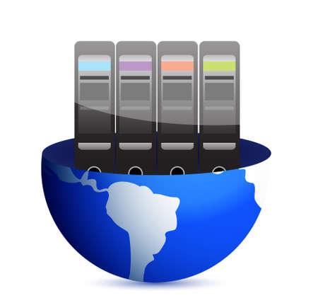 Servers and communication illustration design over white Stock Vector - 13830263