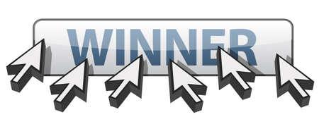 WInner 웹 단추 개념 그림 디자인