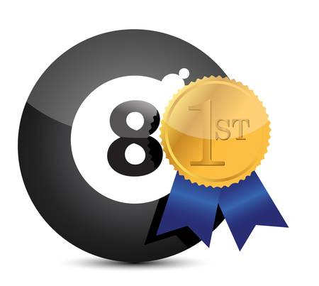 8 ball billiards: Award winning eight ball illustration design