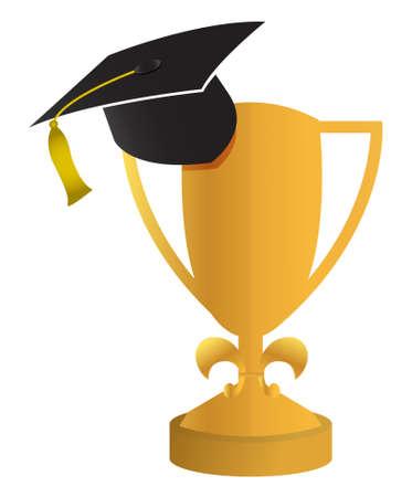 mortar board: education concept of the graduation illustration design Illustration