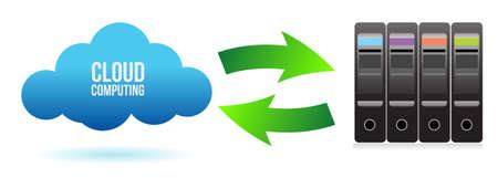 cloud server file transfer concept illustration design  Stock Vector - 13955450