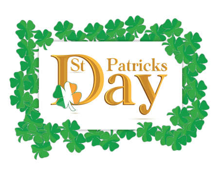 St  Patrick s Days design over a white background Stock Vector - 13969688