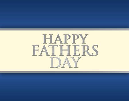 幸せな父親の日カード イラスト デザイン