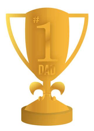 best dad trophy illustration design over white Stock Vector - 13990800