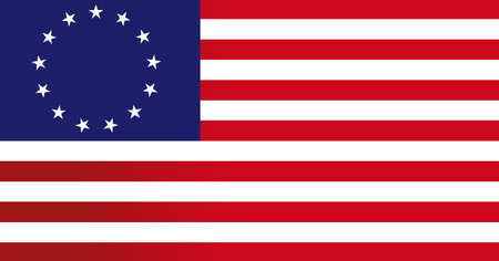 13: 13 colonies flag us - illustration design