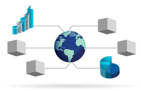 box diagram illustration design over white background Stock Vector - 13990818