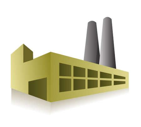 Factory-Illustration, Design, über einem weißen Hintergrund Standard-Bild - 13990807