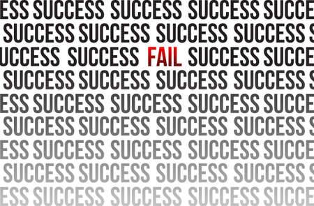 niet rond succes illustratie ontwerp op wit Stock Illustratie