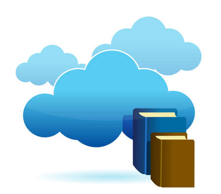 torrent: Cloud technology database as stack of books