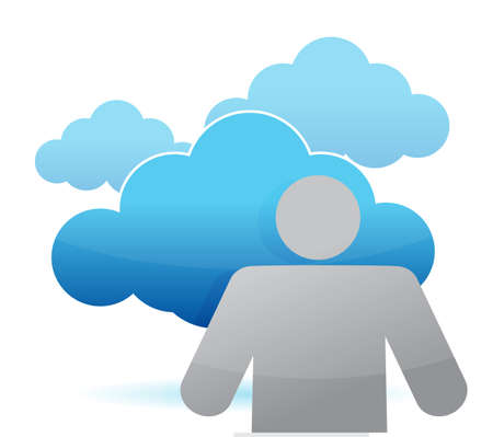 icon cloud computing illustration design over white Stock Vector - 14051358