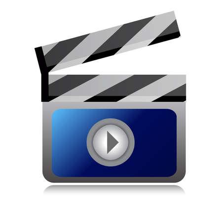 flick: video movie clipper illustration design over a  white background