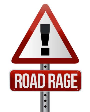 도로 분노 개념 도로 교통 표지판