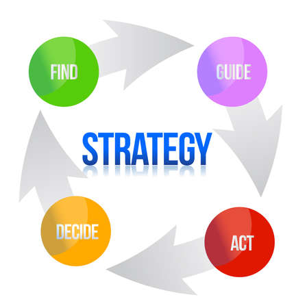 Diagram of marketing strategy illustration design over white Иллюстрация
