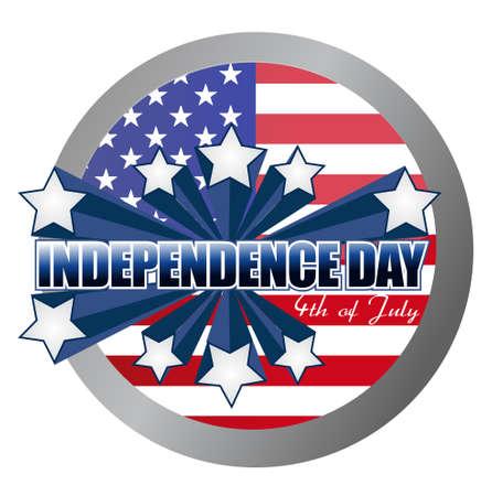 4th of july independence day seal illustration design 向量圖像