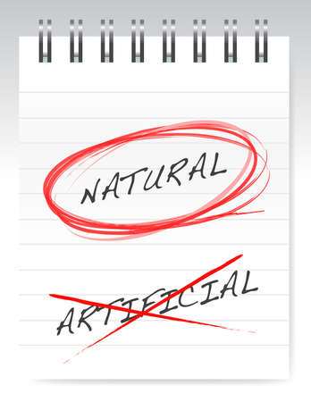 chose natural over artificial illustration design Imagens - 15123985