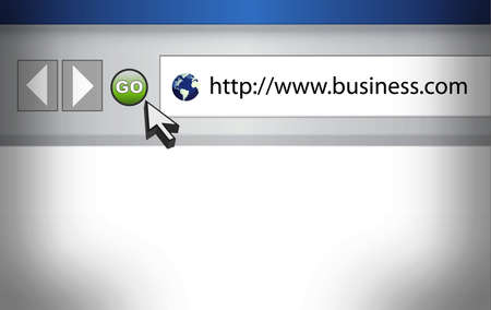 browser business: Concept of Internet Web Browser with Business word