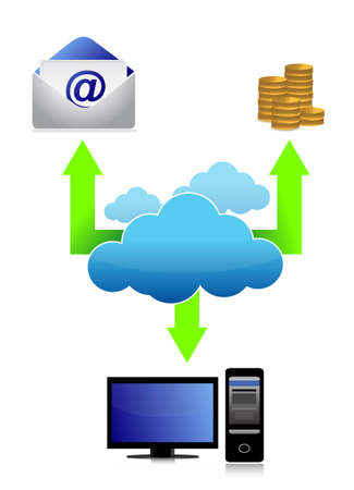 private information: cloud communication business connectivity concept illustration design Illustration