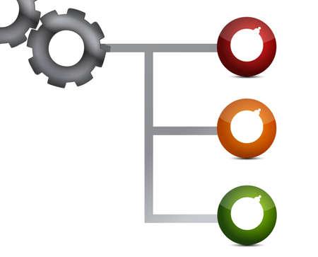 Modern technical network sign illustration design over white