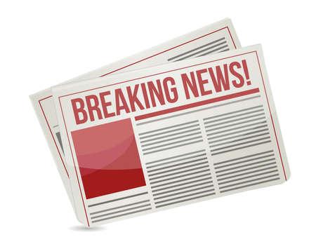 krantenkop lezen het laatste nieuws illustratie