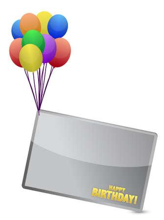 stoke: Birthday balloon banner illustration design over white