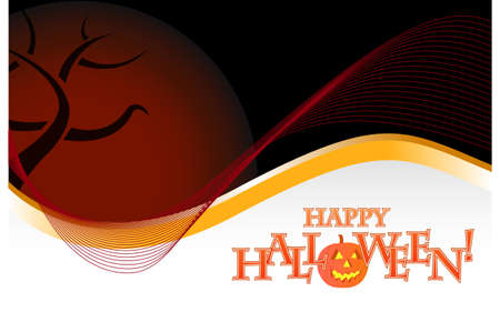 Dark halloween background illustration design over white Vector