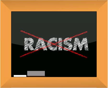 dessin craie: Dessin � la craie Conceptional - Non design illustration racisme Illustration