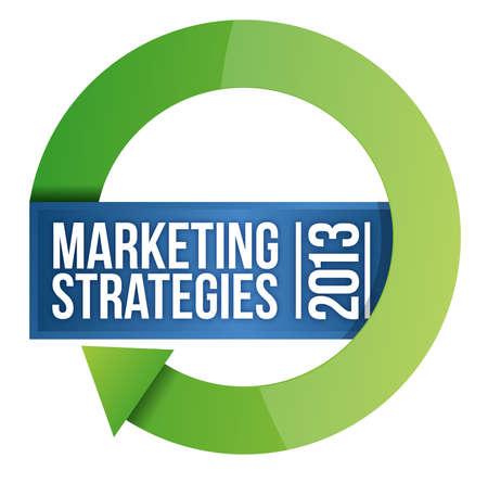 2013 Marketing strategies cycle illustration design over white Illustration