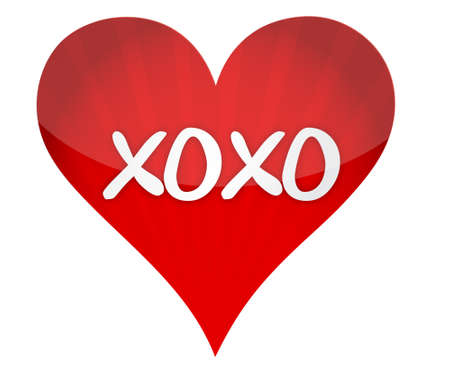 xoxo: xoxo heart illustration design over a white background Illustration