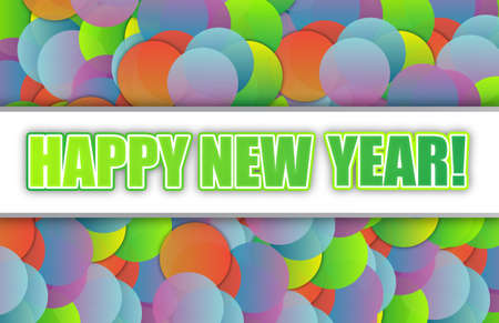 Happy new year colorful card background illustration design Stock Illustration - 15291928