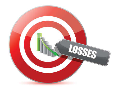 Problem - targeting losses target chart concept Stock Vector - 15291943