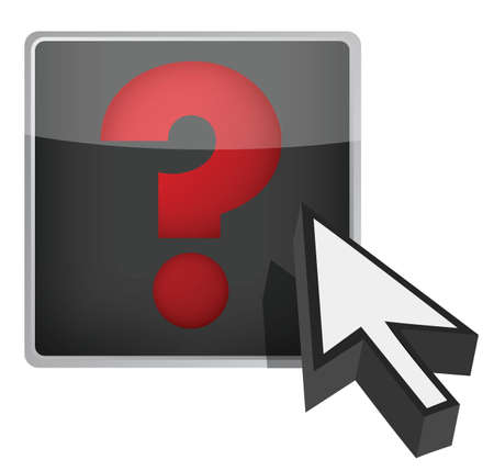 questionail: question mark and cursor illustration design over white