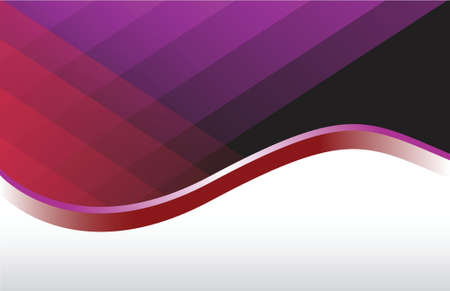 Modern red and purple wave background illustration Ilustração