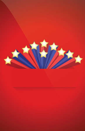 Us red and blue star background illustration
