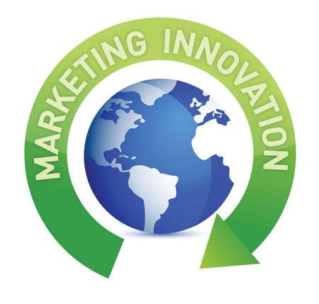 Cycle de l'innovation marketing et le design globe illustration Banque d'images - 15291995