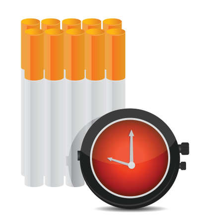 tobacco product: Time to stop smoking concept illustration design