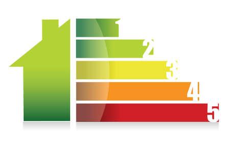 Rynek domów i kolorowe projektowania ilustracji wykres Ilustracje wektorowe