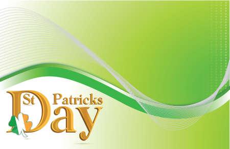 coi: Saint Patricks day green background illustration design Illustration