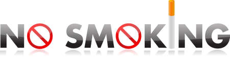 quit: No smoking text illustration design over white