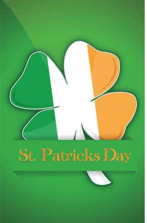 Saint Patricks day Irish clover background card illustration Stock Illustration - 15342252
