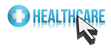 Optaining healthcare concept illustration design over white Stock Illustration - 15342208