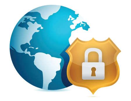 Security concept illustration design over white background