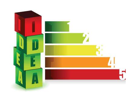 idea color graph illustration design over white
