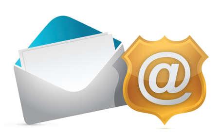 junk mail: internet concept protection illustration design over white
