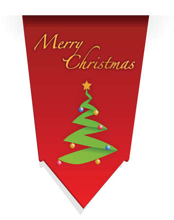 Christmas tree illustration design over white background Stock Illustration - 15606464