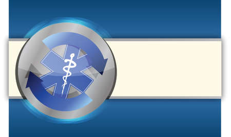 Medical health blue business background illustration design Vector