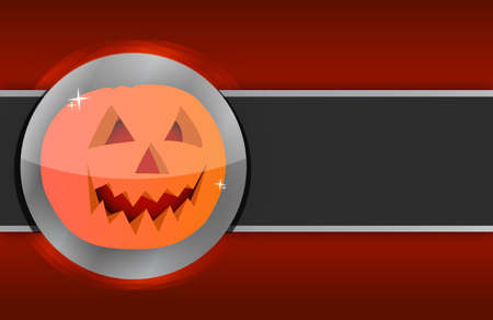 Happy halloween pumpkin card illustration design background illustration