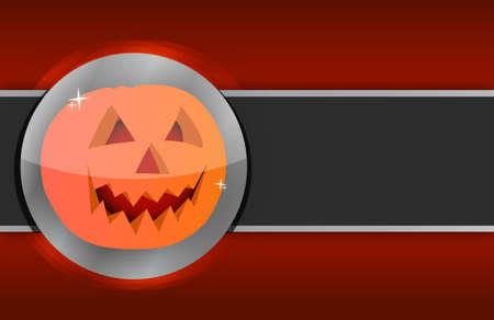 Happy halloween pumpkin card illustration design background Stock Illustration - 15684908